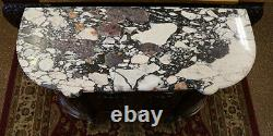 19th Century French Marble Top Buffet Sideboard Server Lock Signed V. F Paris