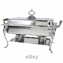3 PACK Chafing Dish Buffet Server Chafer Catering Equipment STAINLESS STEEL 8 QT