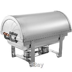 3 Pack Chafing Dish Roll Top Chafer 8 Qt Buffet Server Tray Wedding Party PRO