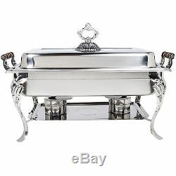 4 PACK Chafing Dish Buffet Server Chafer Catering Equipment STAINLESS STEEL 8 QT