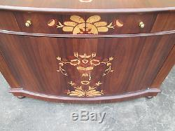 54960 Inlaid Buffet Rosewood Sideboard Server Cabinet