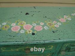 58771 Decorator Buffet Server Sideboard with Factory Romantic Shabby Finish