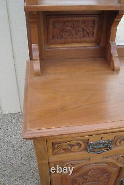 59616 Antique Victorian Buffet Sideboard Server Cabinet QUALITY