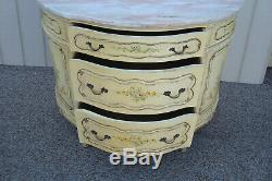 59688 French Marble Top Buffet Server Chest Cabinet