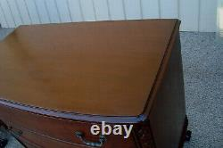 60870 Antique Mahogany Buffet Sideboard Server Cabinet Dresser with Glass Top