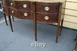 61112 Drexel Heritage Mahogany Buffet Sideboard Server Cabinet with Brass Gallery