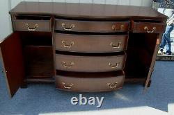 62153 Antique Mahogany Bow front Sideboard Server Buffet Cabinet