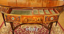 Amazing Satinwood Paint Decorated Adams Style Server Buffet Sideboard By Irwin