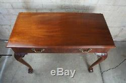 Antique Chippendale Style Flame Mahogany Carved Buffet Server Ball Claw Feet