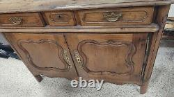 Antique Country French Sideboard Buffet Server w Drawers Oak Louis XV