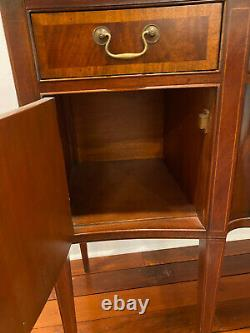 Antique Federal Inlaid Flame Mahogany Sideboard Buffet Cabinet Server WE SHIP