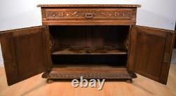 Antique French Breton (Brittany) Sideboard/Buffet/Server in Solid Chestnut Wood