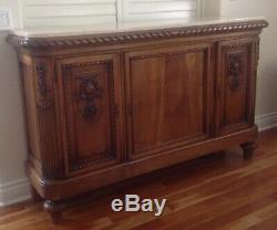 Antique French Country Louis XV Buffet Server Sideboard