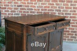 Antique French Country Sideboard Cabinet Buffet Server w Drawers Oak
