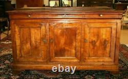 Antique French Louis Philippe Farmhouse Chest Sideboard Buffet Server Cabinet