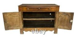 Antique French Provincial Country Oak Sideboard Buffet Server Bar 19th cen