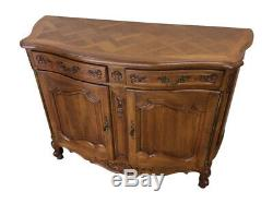 Antique French Walnut Server, Sideboard, Buffet, 1920's