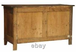 Antique French Walnut Three-drawer Chest Of Drawers Commode Server, 19th C