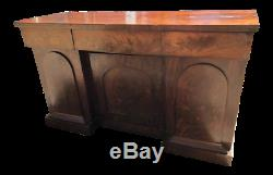 Antique Mahogany Server, Sideboard, Buffet 3 Doors and Drawers English Victorian