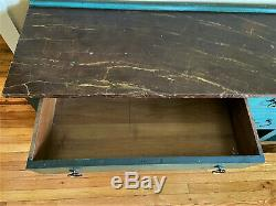 Antique Painted Oak Sideboard Buffet Server Cabinet Console Table, 99.5 WE SHIP