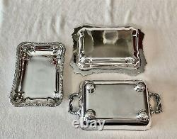 Antique Sheffield Silverplate Entree Buffet Server with Warmer 4 Piece Set c 1820