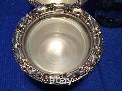 Antique Silver Plated Lazy Susan Buffet Server