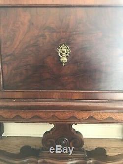 Antique Walnut Cabinet Dining Room Server Buffet Credenza