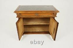 Antique Walnut Sideboard, Carved, Marble Top, Buffet, Server, France 1890, B1585