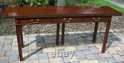 Baker Furniture Inlaid Mahogany Sideboard Buffet Server Opens To Use As Table