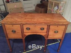 Beautiful Small Period Vintage Banded Inlaid Mahogany Sideboard Server Buffet