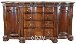 Bernhardt Traditional French Serpentine Mahogany Sideboard Buffet Server 74