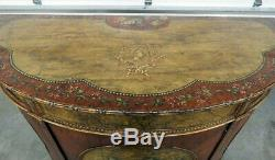 Best French Louis XVI Paint Decorated Faux Marble Figural Commode Buffet Server