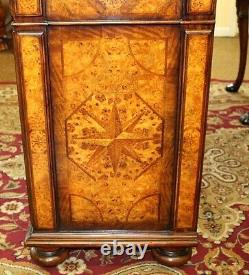 Best Italian Burled Mixed Wood Buffet Cabinet Chest Server By Theodore Alexander