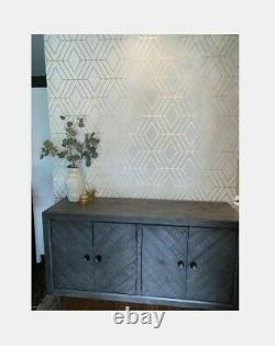 Besteneer Buffet Server Dining Sideboard Wine Cabinet Console Table Storage Gray