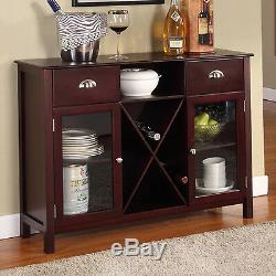 Buffet Cabinet Hutch Dining Kitchen Server Furniture Wine Rack Sideboard Table