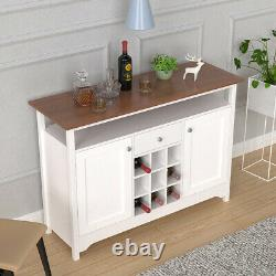 Buffet Server Sideboard Wine Cabinet Console Table Dining Room with Storage Home