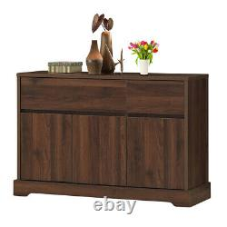 Buffet Sideboard Console Table Dining Room 2 Drawers Server Cupboard Cabinet