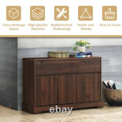 Buffet Sideboard Console Table Server Cupboard Cabinet with 2 Storage Drawers
