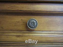 Buffet Sideboard Server Cabinet Vintage Wood Carved With Marble