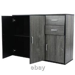 Buffet Sideboard Storage Cabinet Server Table Console 2 Drawers 2 Doors Kitchen