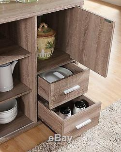 Buffet Storage Cabinet Dining Kitchen Server Wine Rack Sideboard Table Drawer