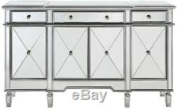 Buffet Table Server Cabinet Sideboard Mirrored Furniture China Storage Drawers