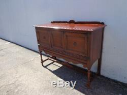 Buffet Wood Cabinet Console Sideboard Tv Stand Server Storage Queen Anne Vintage