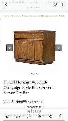Buffet server Drexel Heritage Furniture Campaign Style
