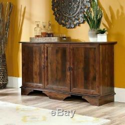 Cabinet Storage Console Buffet Credenza Sideboard Server Rustic Cherry 3 Doors