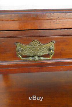 Carved Victorian 1800s Server Buffet Sideboard Bar 1256