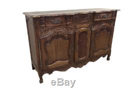 Charming Antique French Country Server or Buffet in Oak, 1920's