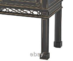 Chinese Chippendale Ebonized serpentine Sideboard Server Buffet New Bench Made