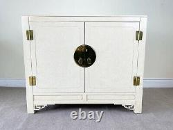 Chinese Chippendale Ivory Lacquer and Brass Server/Buffet