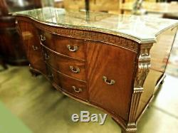Chippendale Style Mahogany Roman Key Sideboard Credenza Buffet Cabinet Server